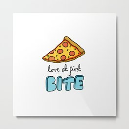 love at first bite  Metal Print