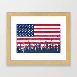 Merican Flag OG Framed Art Print