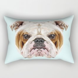 English Bulldog // Pastel Blue Rectangular Pillow