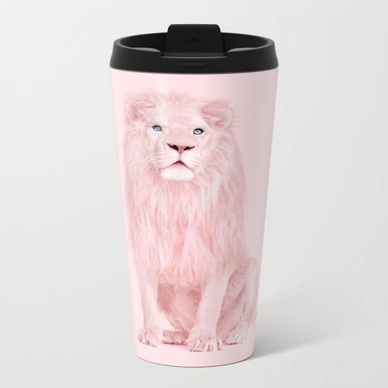 ALBINO LION Metal Travel Mug