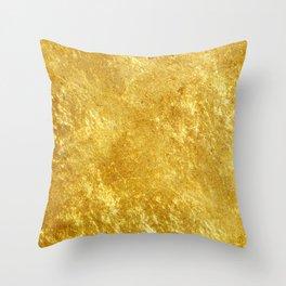 Golden Texture #lifestyle #society6 Throw Pillow