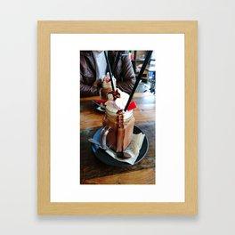 Iced Mocha Framed Art Print