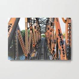 Train bridge Metal Print
