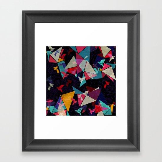 Origami Flight Framed Art Print