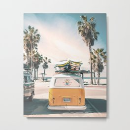 Surf Van Venice Beach California Metal Print