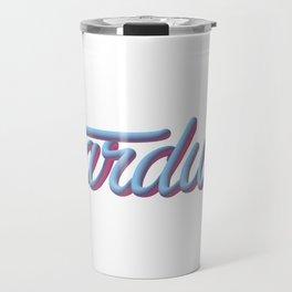 3D stardust text Travel Mug