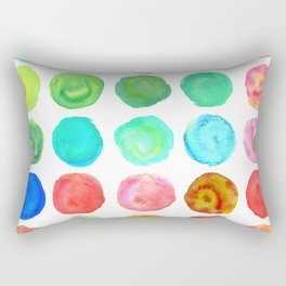 Marble Watercolor Forest Rectangular Pillow