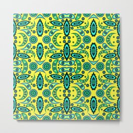 abstract seamless floral pattern exotic shapes Metal Print