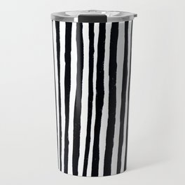 Black Stripes Travel Mug