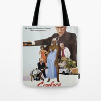scarface Tote Bags featuring Cheney Scarface by vipez