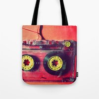 cassette Tote Bags featuring Cassette by The 80s