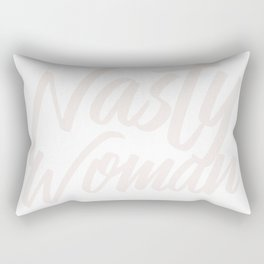 Nasty Woman for Black Background Rectangular Pillow