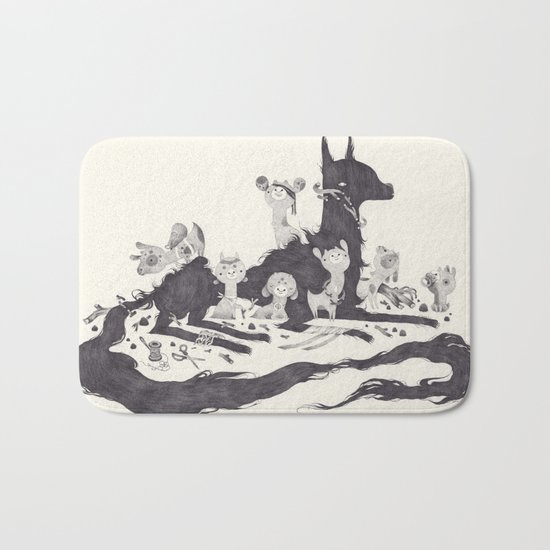 Le Loup et les Sept Chevreaux Bath Mat