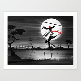 Blood, Over Water Art Print