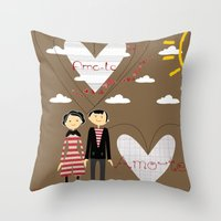 lovers Throw Pillows featuring Lovers by BruxaMagica_susycosta