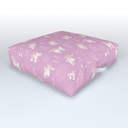 The Kids Are Alright - Pastel Pinks Outdoor Floor Cushion