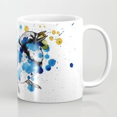 Splattered Blue jay Mug