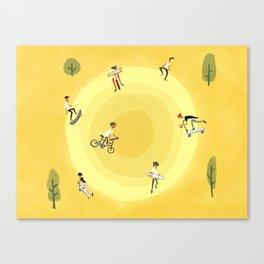 Skatepark Canvas Print