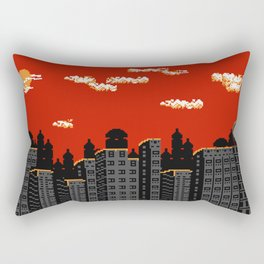 Sunset at the SilverHeart City Rectangular Pillow