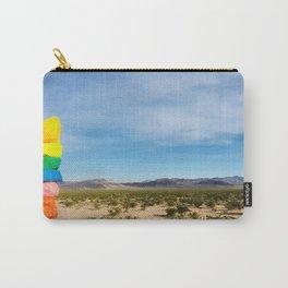 Vegas juxtaposed ~ Las Vegas desert art print 7 Magic Mountains Carry-All Pouch