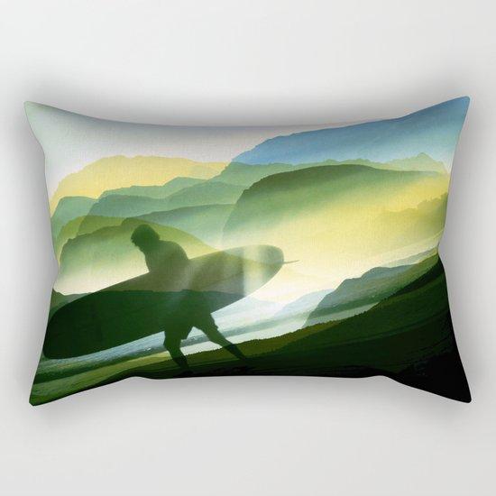 Sunny Surf Rectangular Pillow