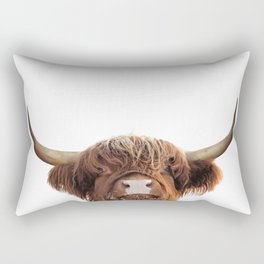 Highland cow, brown cow Rectangular Pillow