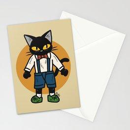 Little boy cat Stationery Cards