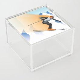 SKIING Acrylic Box