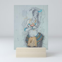 Dipo Shy Girl Mini Art Print