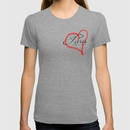 Paris Mon Amour in a red heart - Vector T-shirt
