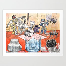 Cybertron Hip Hop Club Art Print