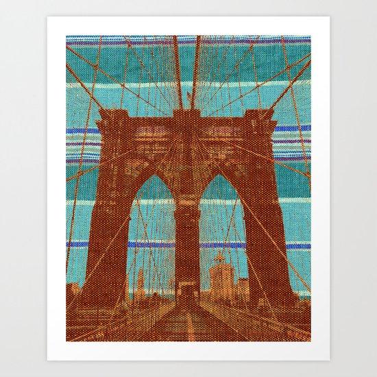 The Orange Bridge Art Print
