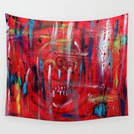 Something Is Peering Through Wall Tapestry