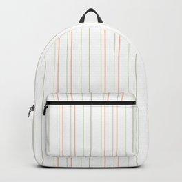 Pastel orange green watermelon modern stripes pattern Backpack