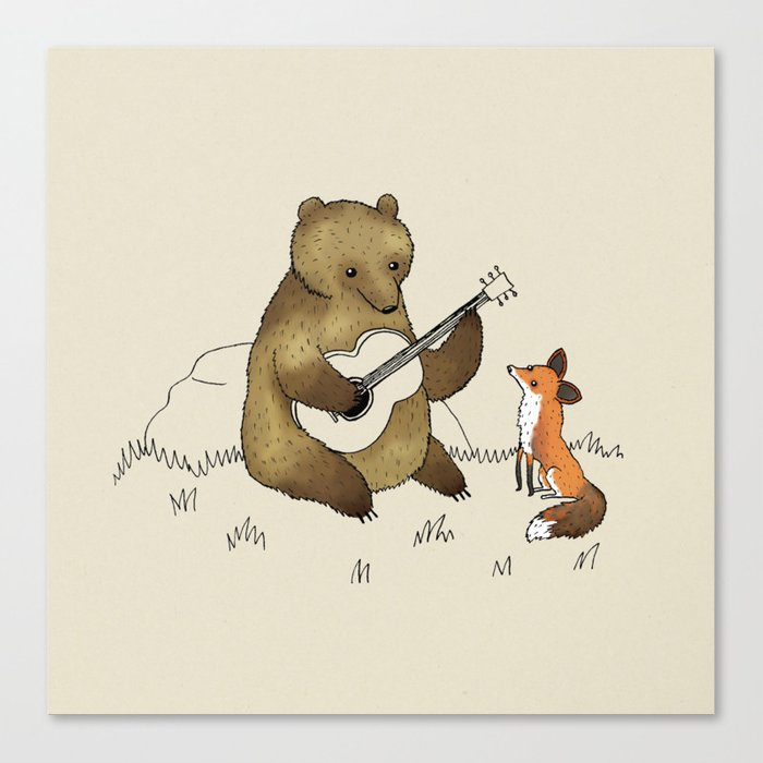 Bear & Fox Leinwanddruck