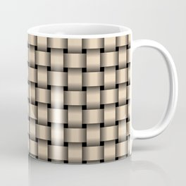 Small Bisque Brown Weave Coffee Mug