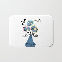 Quilling, flowers in vase 2 Bath Mat
