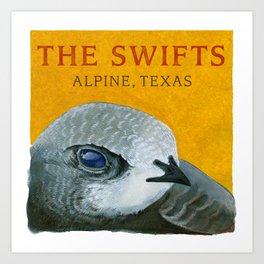 The Swifts - Alpine, Texas Swift Head Art Print