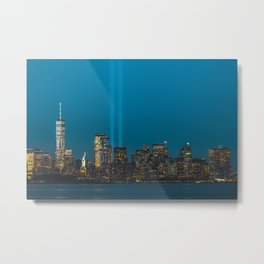 Lady Liberty with Memorial Lights Metal Print