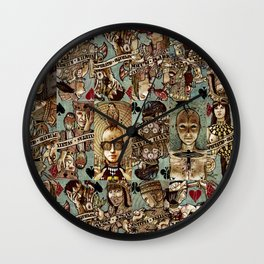 Requiem Playing Cards - Jokers and Courts Wall Clock