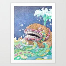 Whaleship Art Print