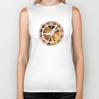clockwork Biker Tanks featuring CLOCKWORK by Stephanie Lue
