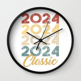 2024 Classic Vintage Style Anniversary Celebration Party Year Birthday Gift  Wall Clock