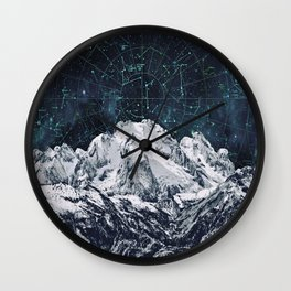 Constellations over the Mountain Wall Clock