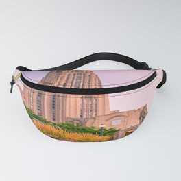 Pittsburgh Cathedral Of Learning Flower Garden Fanny Pack