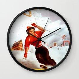 Limone Piemonte ski Italy Wall Clock