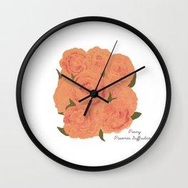 Peony: Paeonia Suffruticosa Wall Clock