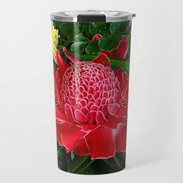 Red Torch Ginger Flower Travel Mug