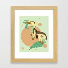Leaf Steampunk Fox Framed Art Print