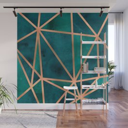 Copper & Emerald Geo Wall Mural